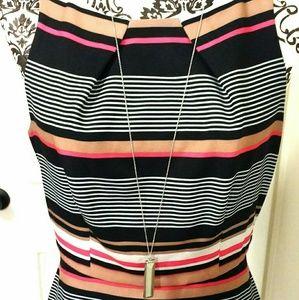 BOGO Elle Striped A-Frame Dress